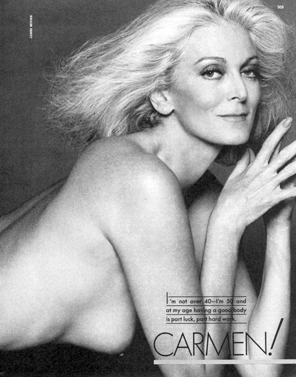Carmen Nude Vogue Spirit Restoration Carmen Dell Orefice Young